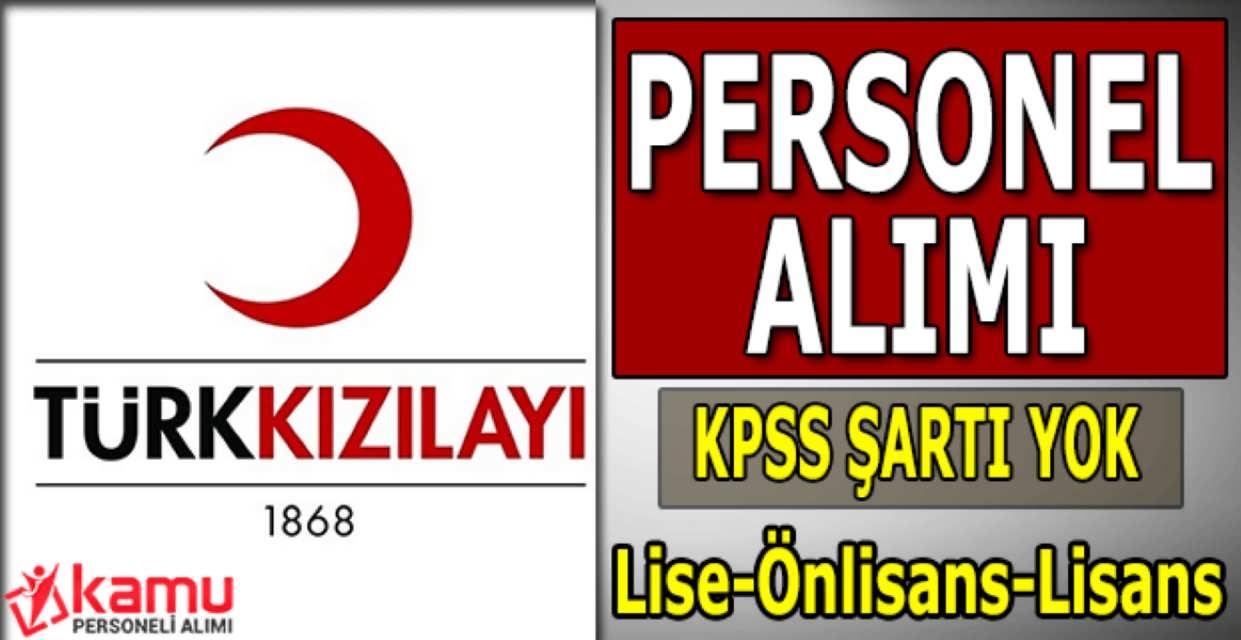 Türk Kızılayı Personel Alımı Şubat 2017