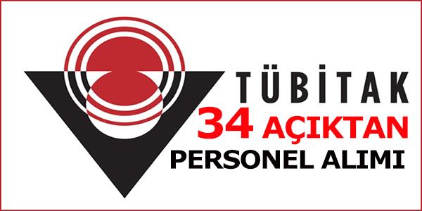 Tübitak Açıktan 34 Personel Alımı