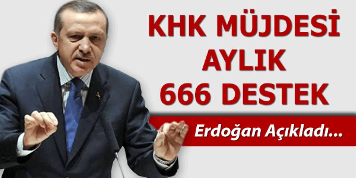 Cumhurbaşkanından İstihdam Müjdesi Aylık 666 TL Destek