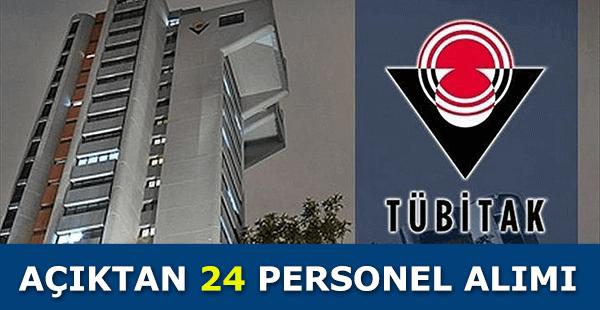 Tübitak Açıktan 24 Personel Alımı
