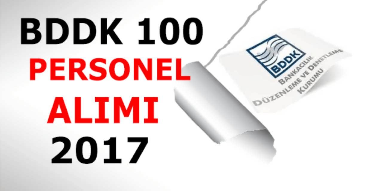 BDDK 100 Personel Alımı
