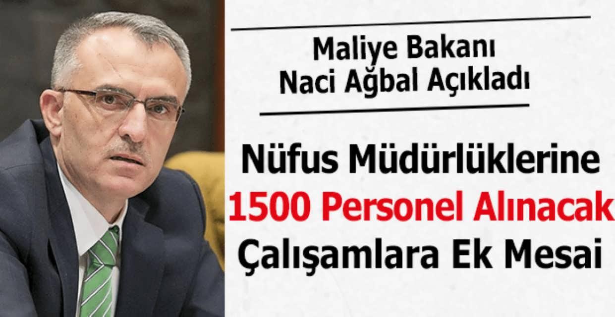 Türkiye Geneli Nüfus Müdürlüklerine Bin 500 Sözleşmeli Personel Alınacak