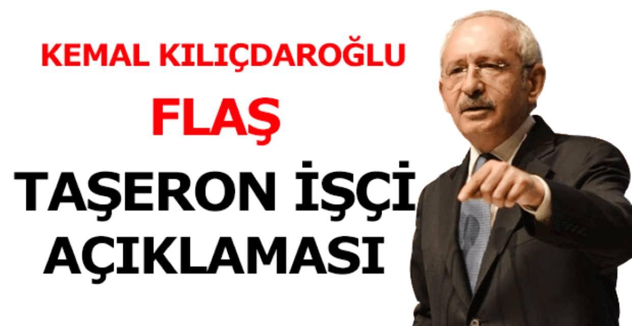 Kemal Kılıçdaroğlu'ndan Taşeron İşçi Açıklaması