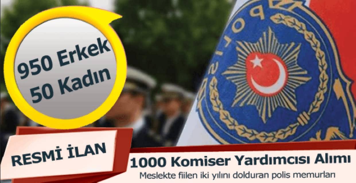 Polis Akademisi 1000 Komiser Yardımcısı Alacak