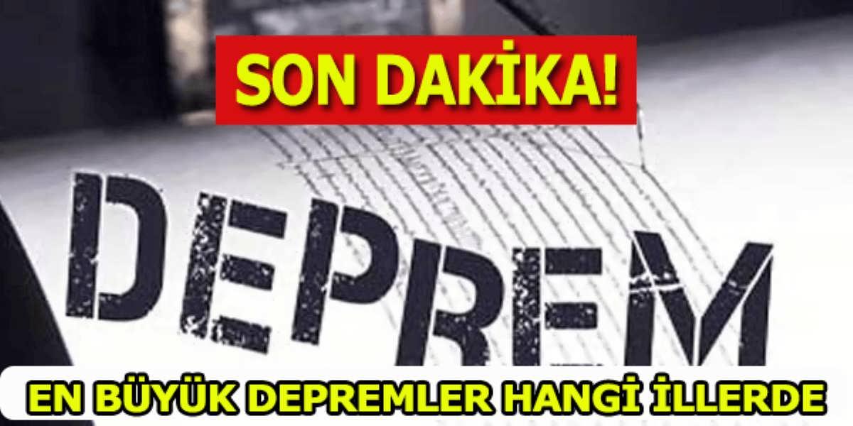 Türkiye Geneli 2000 Bin Deprem Son Dakika Bilgileri