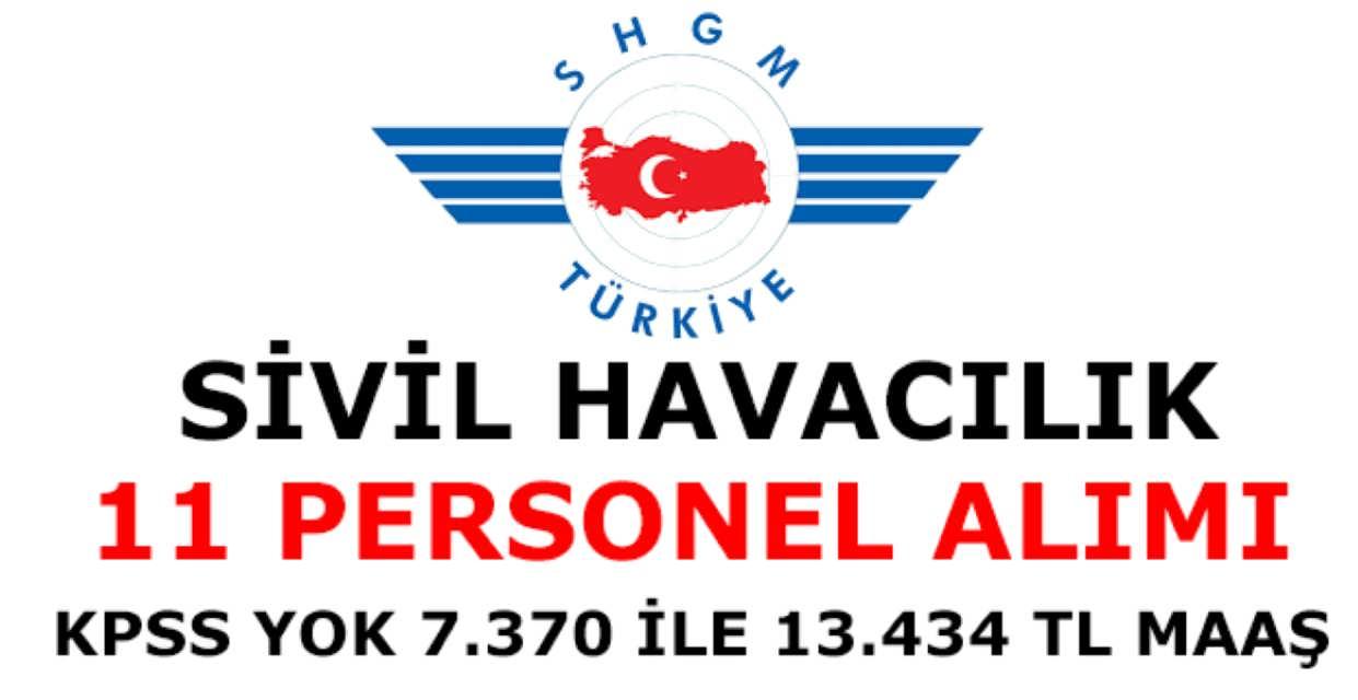 Sivil Havacılık 11 Personel Alımı