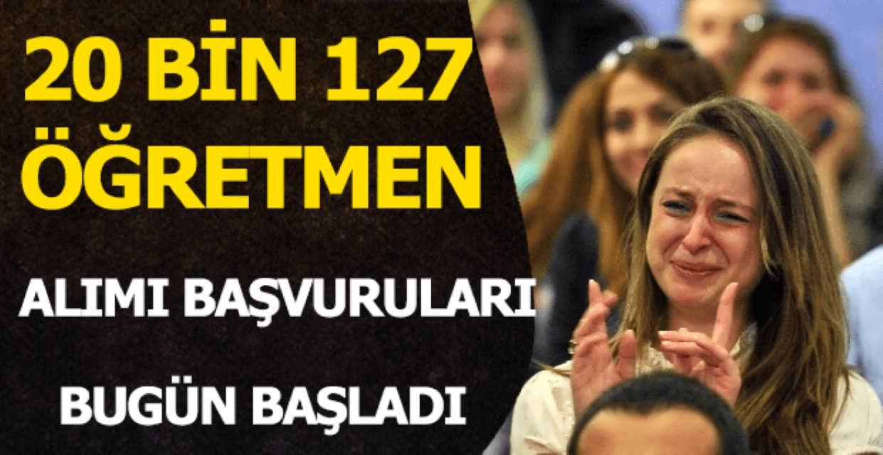 20 bin 127 Öğretmen Alımı Başvuruları Başladı