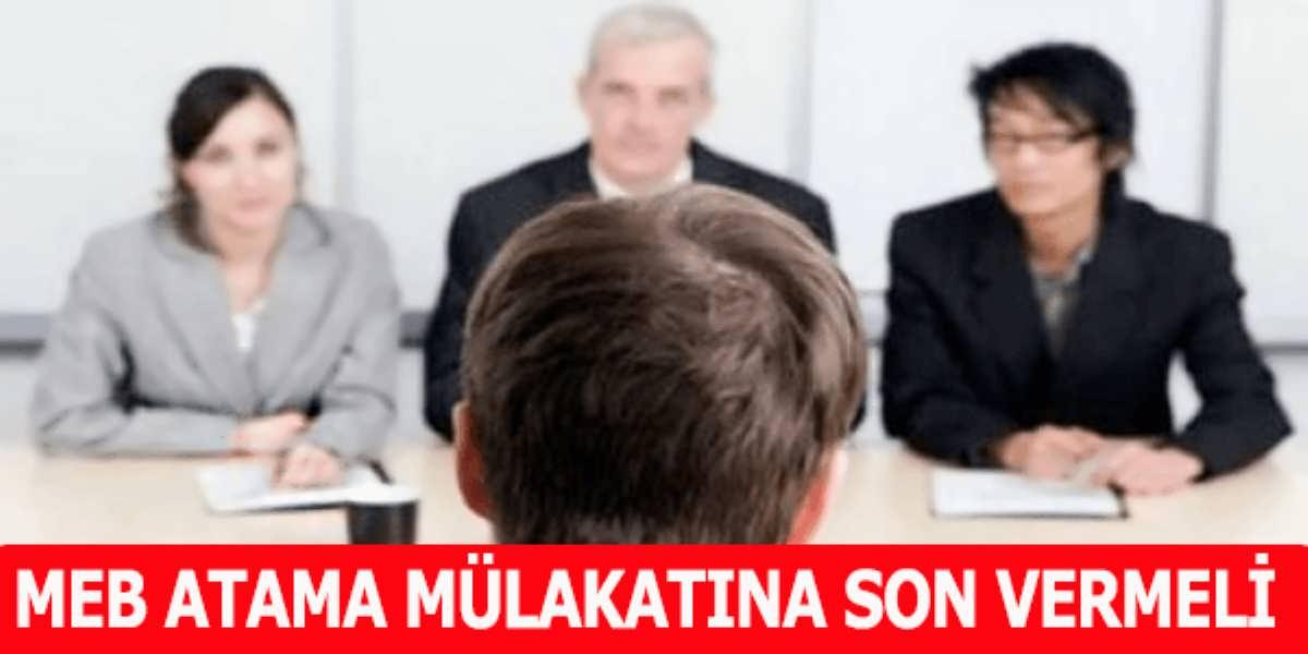 MEB Öğretmen Atama Mülakatına Son Vermeli