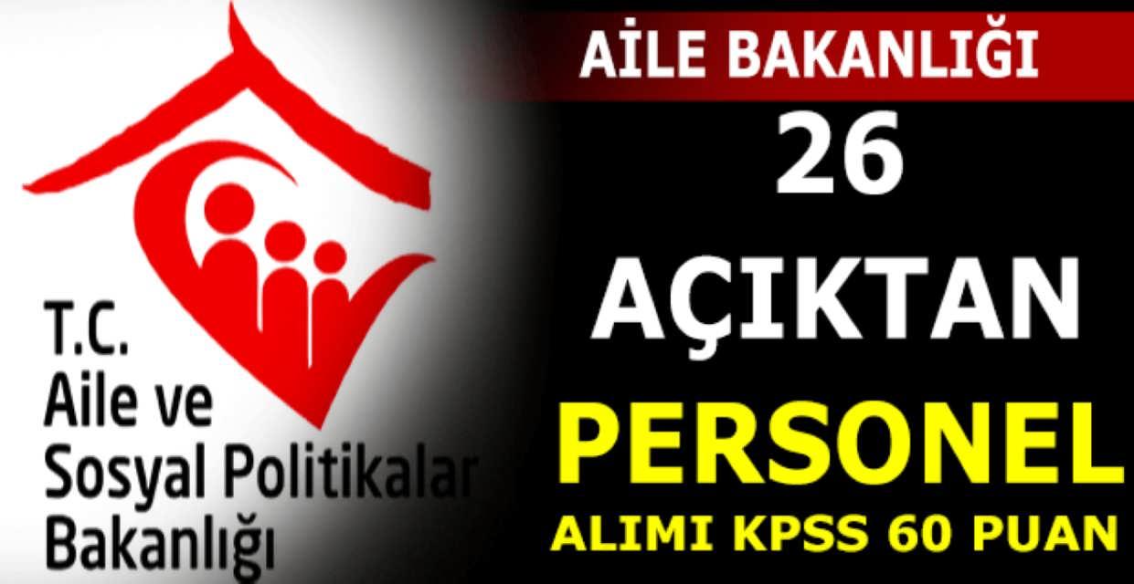 ASDEP Konya Açıktan Atama ile 26 Memur Alımı