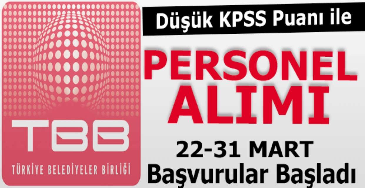 Türkiye Belediyeler Birliği 20 Kamu Personel Alımı