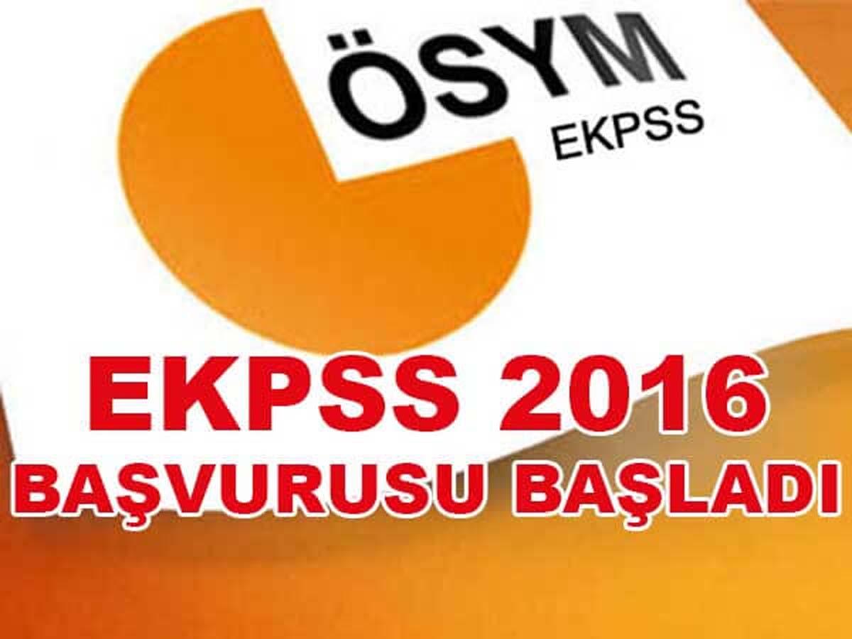 EKPSS 2016 Başvurusu Başladı