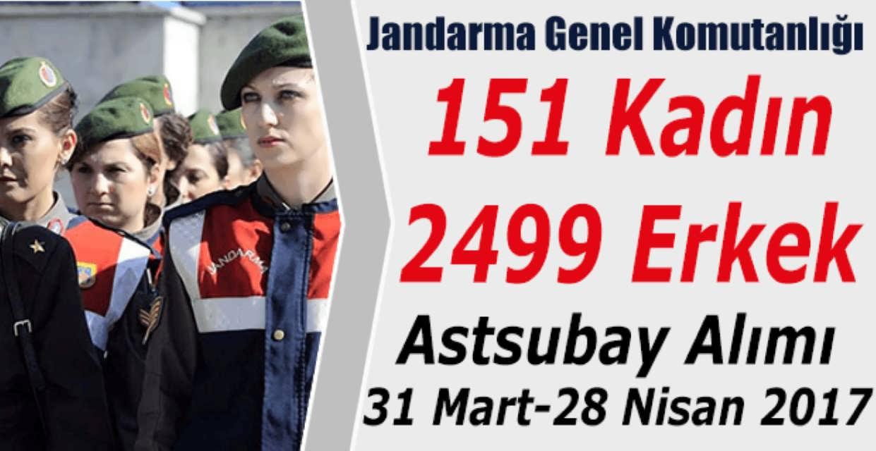 Jandarma Genel Komutanlığı 2650 Astsubay Alımı