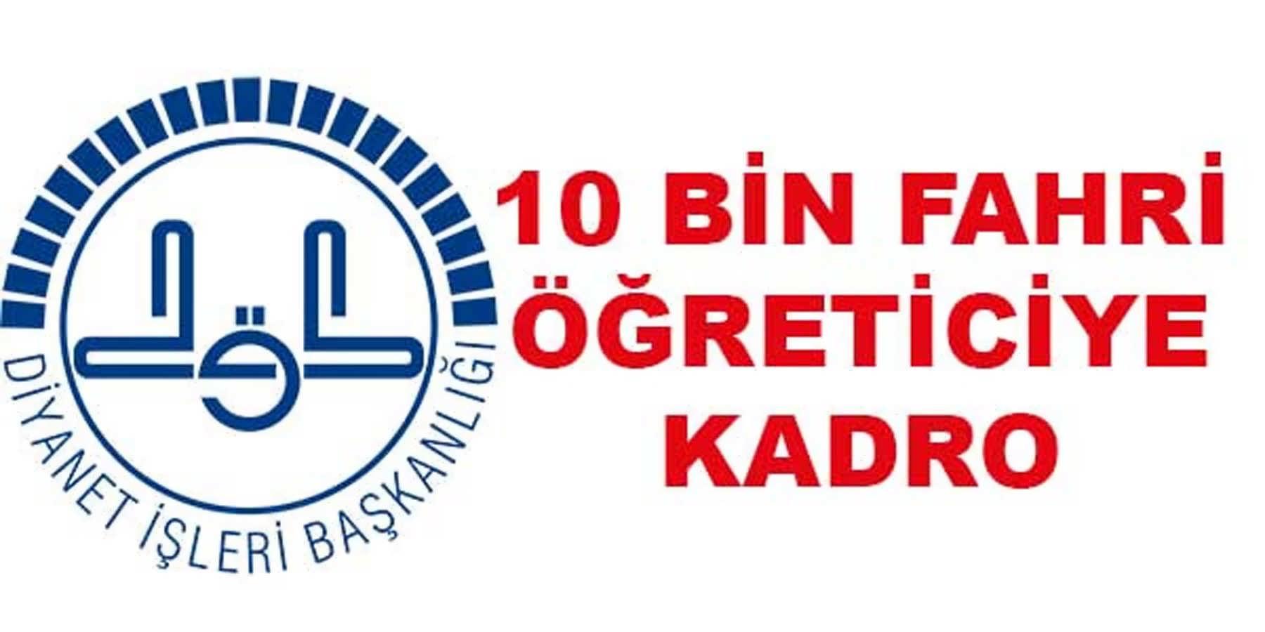 Diyanet İşleri Başkanlığı 10 Bin Fahri Kuran Kursu Öğreticisine Kadro Verecek