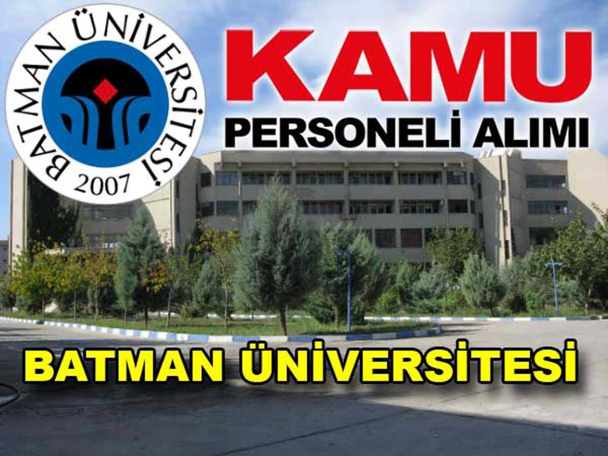 Batman Üniversitesi İç Denetçi Alımı