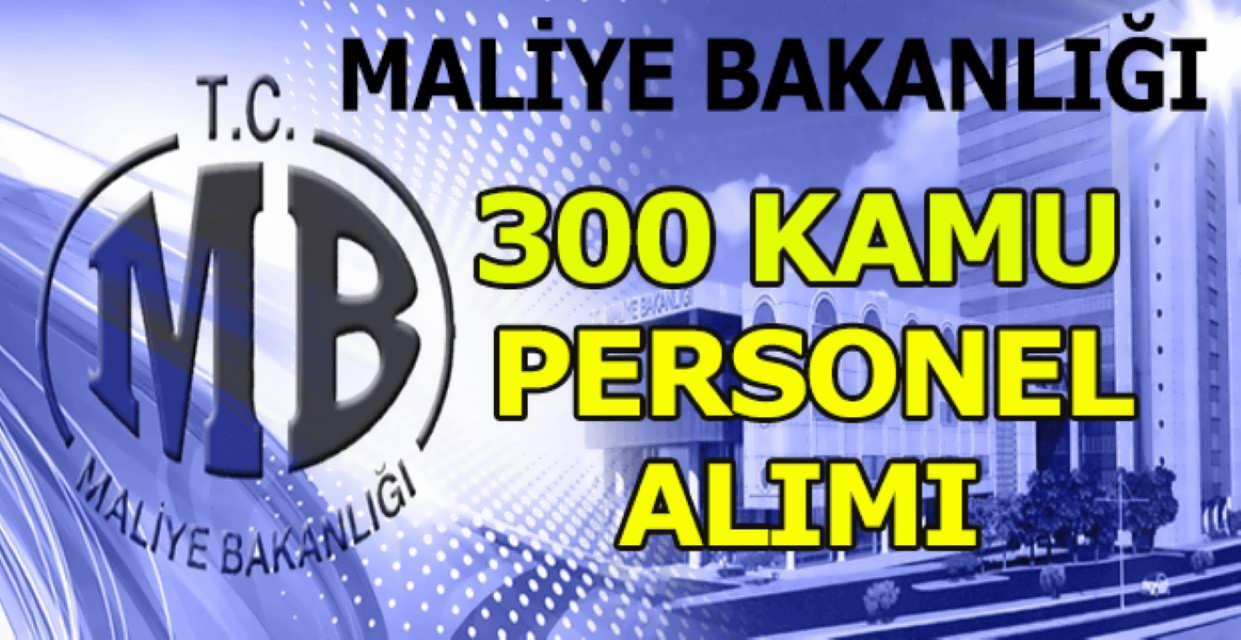 Maliye Bakanlığı 300 Kamu Personel Alımı 2017