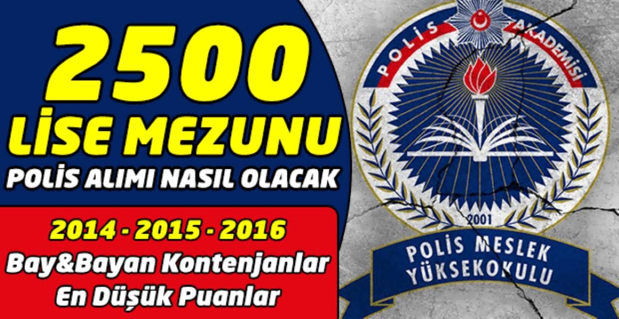 Lise Mezunu 2500 Polis Alımı Nasıl Olacak Kontenjan ve En Düşük Puanlar