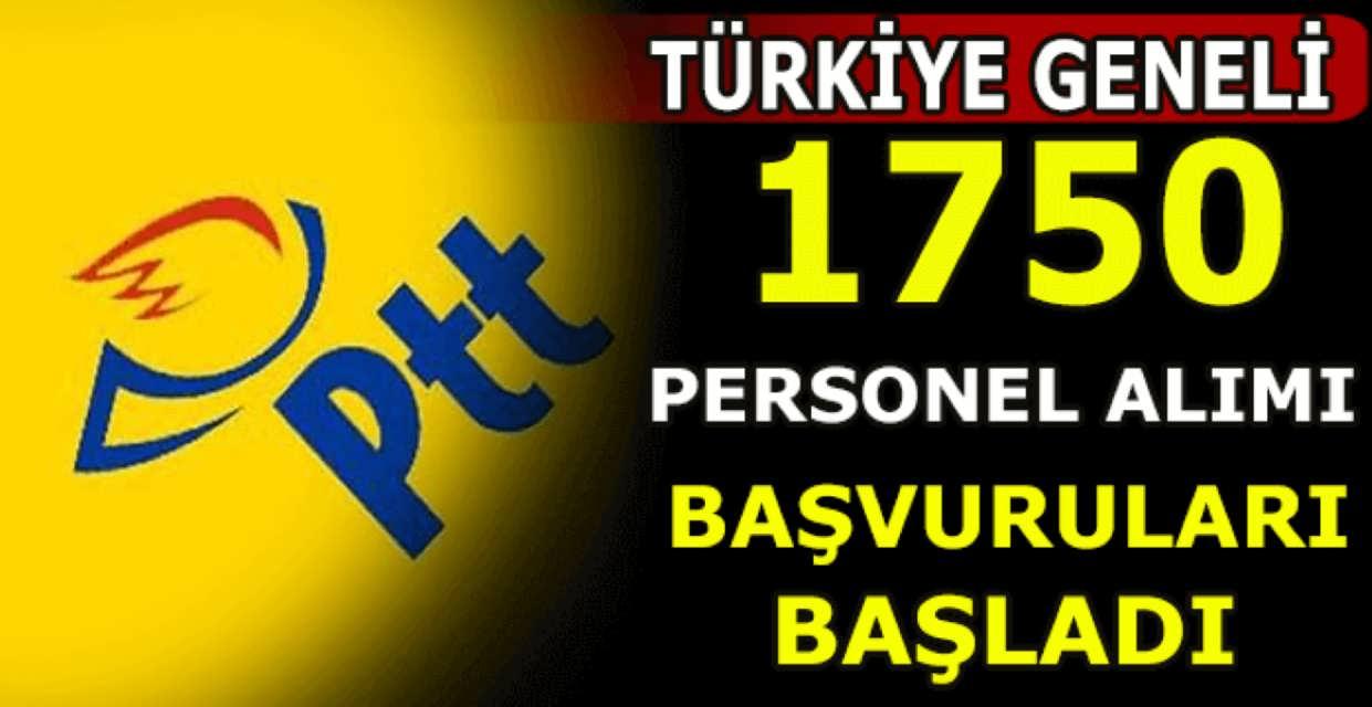 PTT Bin 750 Memur Alımı Başvuruları Başladı