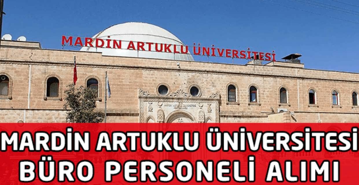 Mardin Artuklu Üniversitesi Büro Personeli Alımı