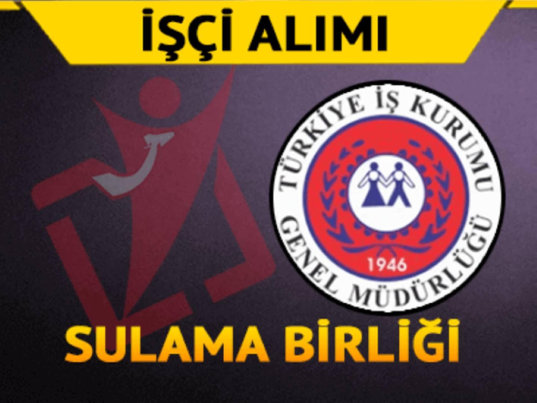 Yamula Mansap Sulama Birliği Başkanlığı İşçi Alımı