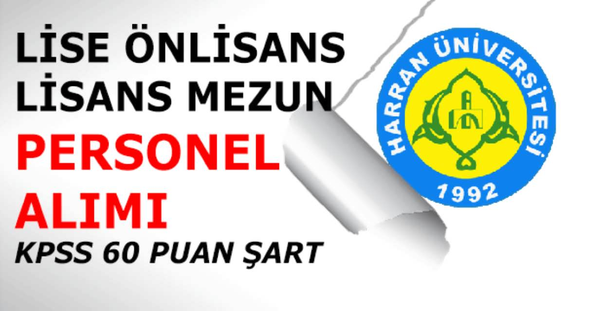 Harran Üniversitesi 34 Kamu Personel Alımı 2017