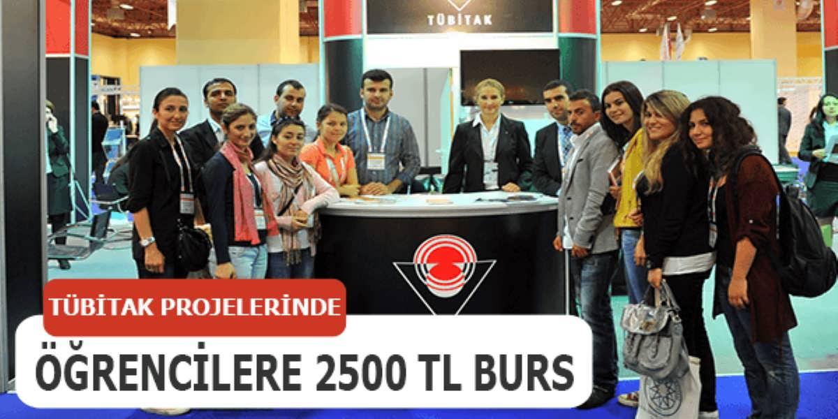 TÜBİTAK Projelerinde Çalışan 2500' TL Kadar Burs İmkanı