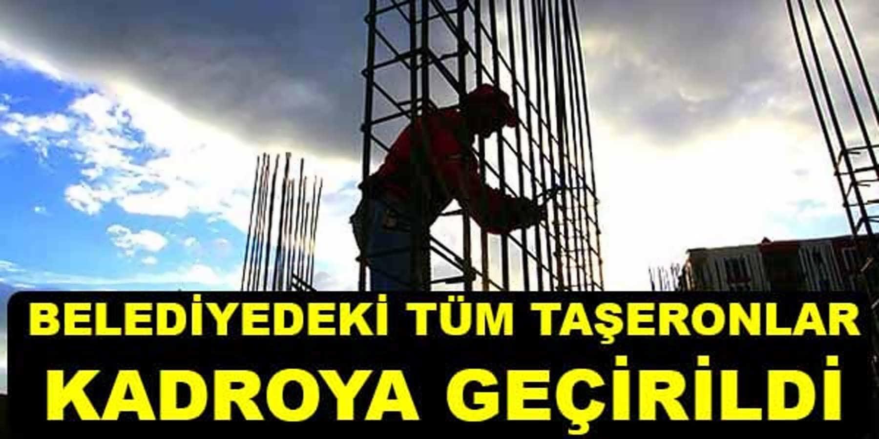 Umurbey Belediyesinde Taşeron Olarak Çalışan Tüm İşçilere Kadro Verildi