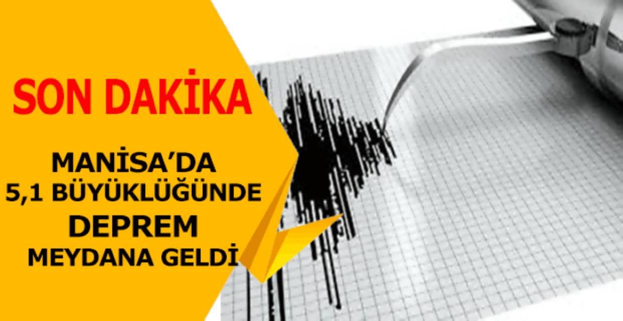 Manisa İlinde 5,1 Büyüklüğünde Deprem Meydana Geldi