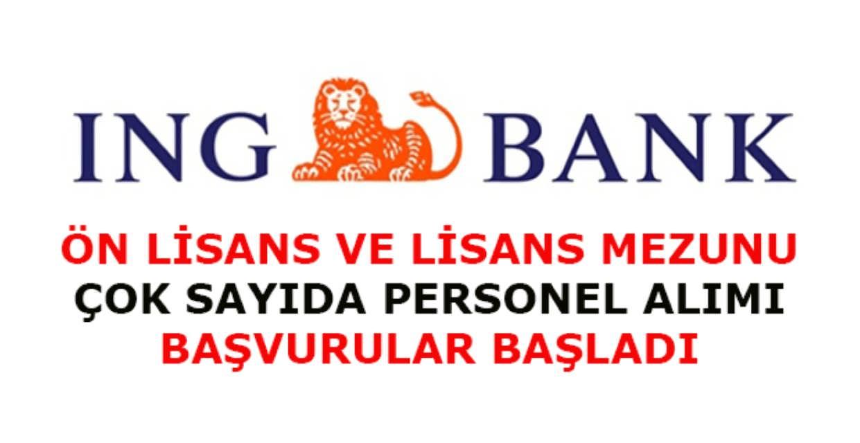 ING BANK Çok Sayıda Personel Alımı