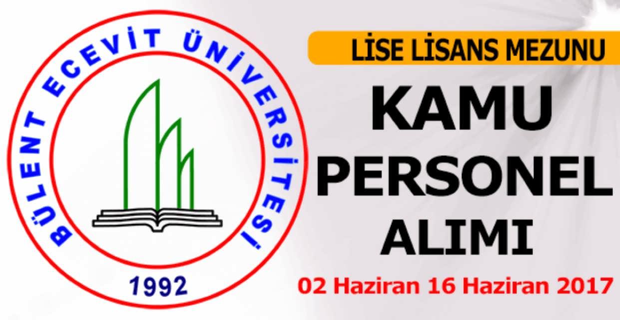 Bülent Ecevit Üniversitesi Kamu Personel Alımı Haziran