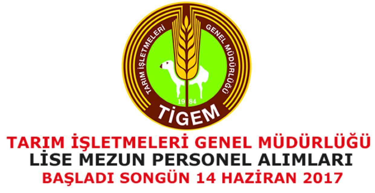 Tarım İşletmeleri Genel Müdürlüğü Personel Alımı Haziran 2017