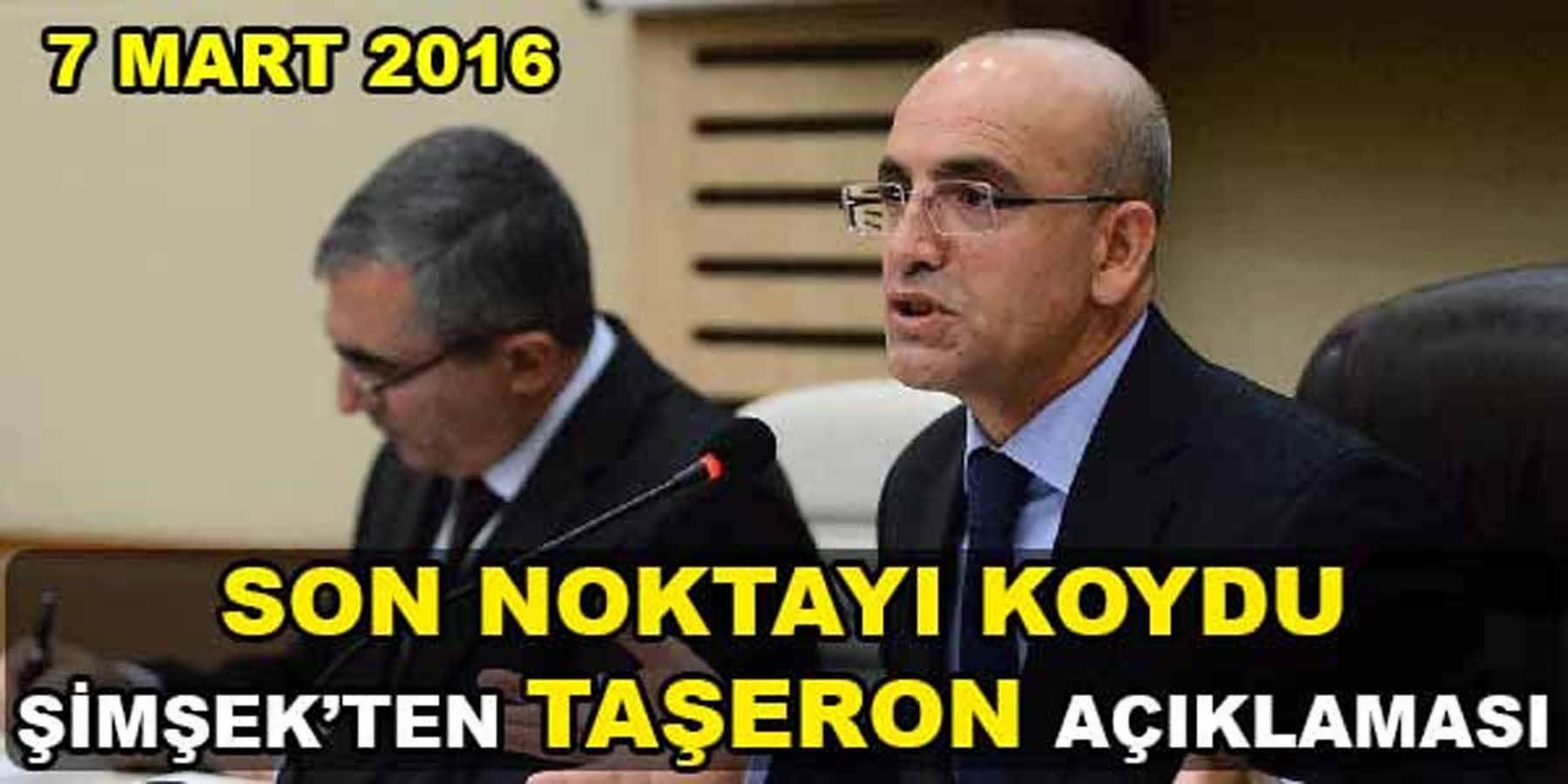 Başbakan Yardımcısı Mehmet Şimşek'ten Taşerona Kadro Açıklaması