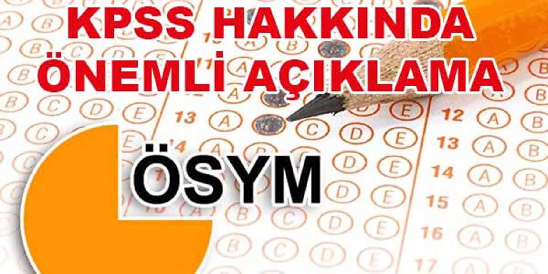 ÖSYM Başkanı Ömer Demir KPSS'nin Neden Erken Tarihe Alındığını Açıkladı