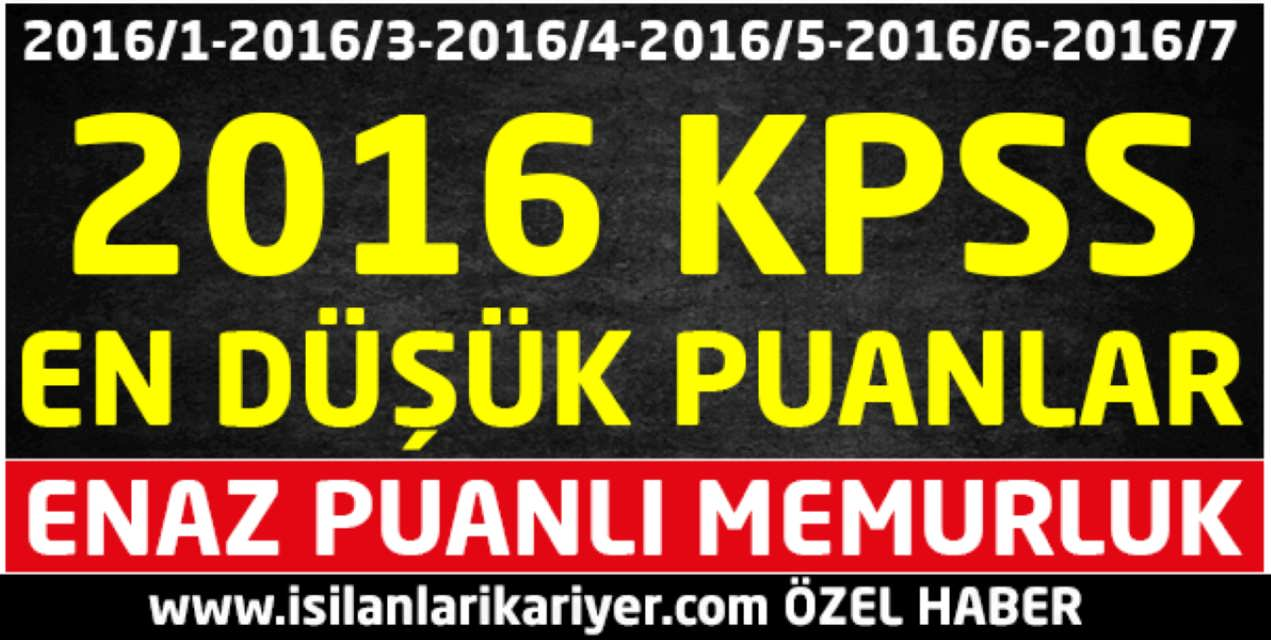 KPSS 2017 Merkezi Atamaları Öncesinde Oluşan En Düşük Puanlar