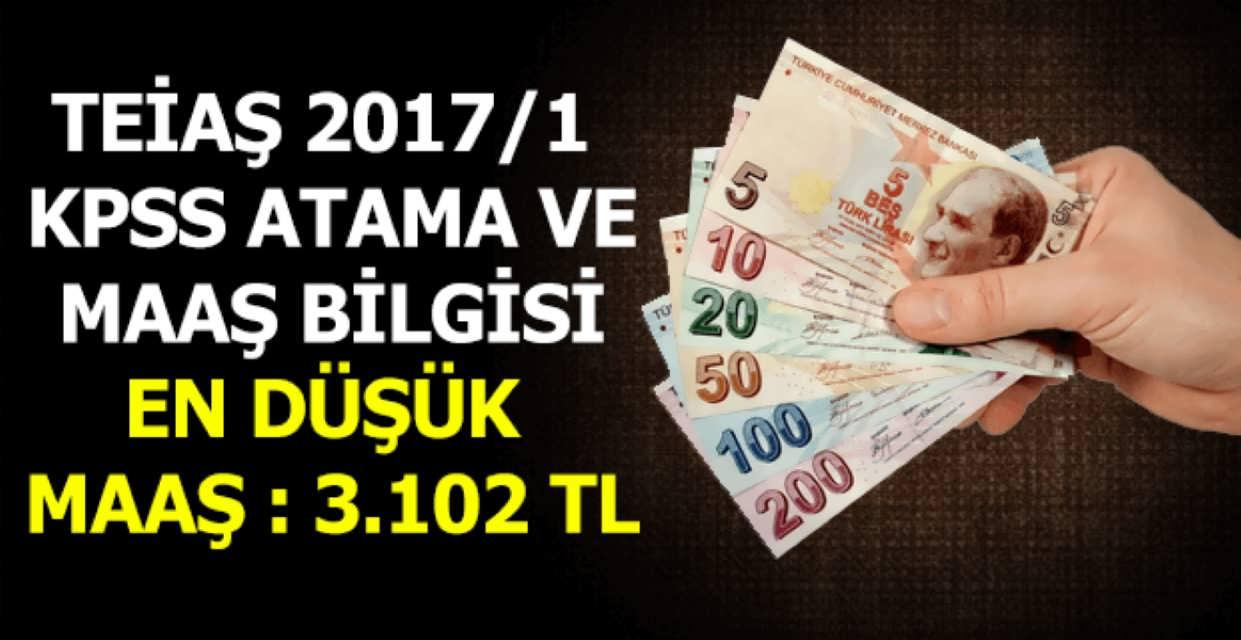 2017/1 KPSS Adaylarına TEİAŞ Maaş Bilgilendirmesi