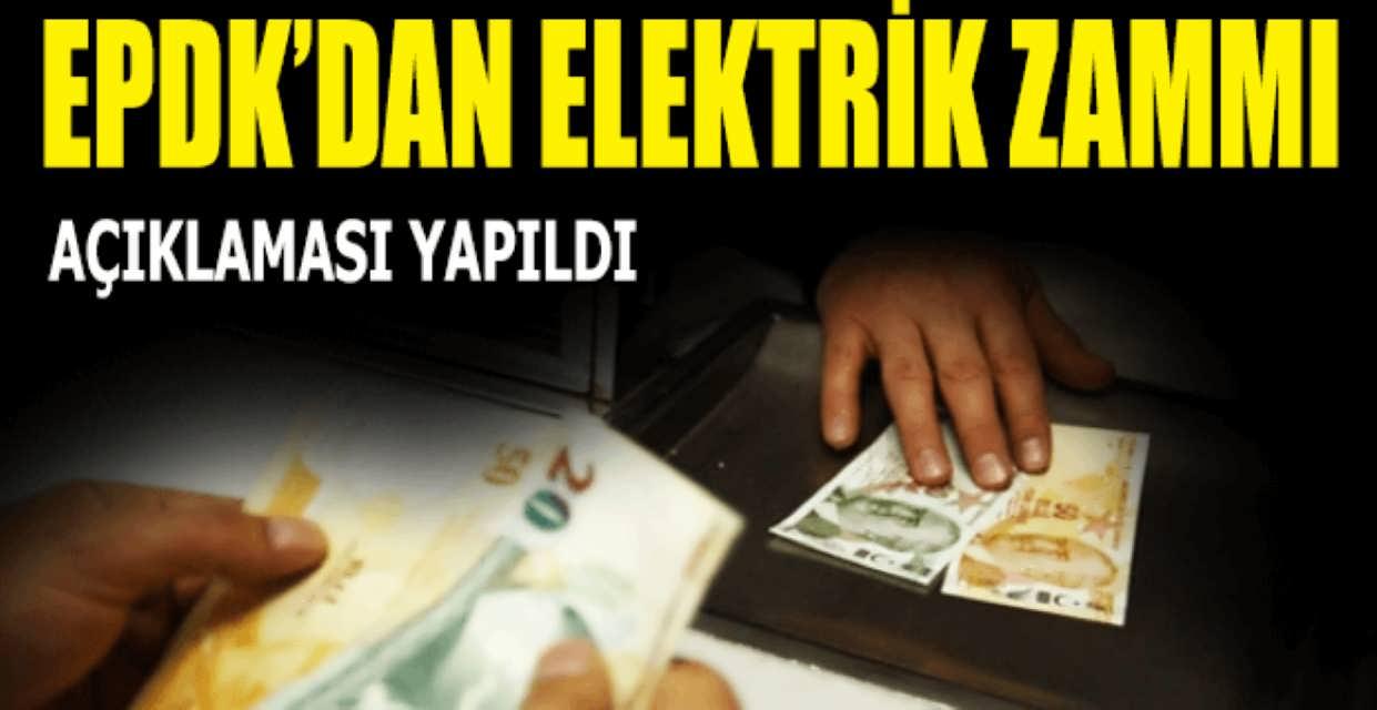EPDK Elektrik Zammı Bilgilendirmesi