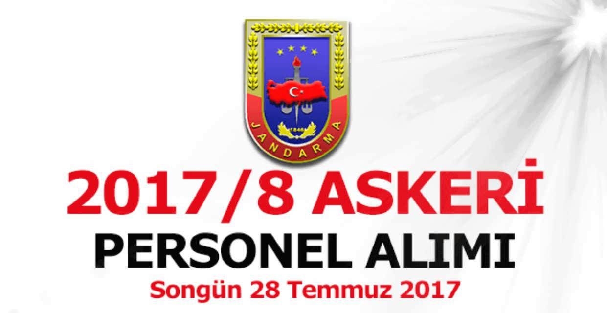 Jandarma Genel Komutanlığı 2017/8 Askeri Personel Alımı
