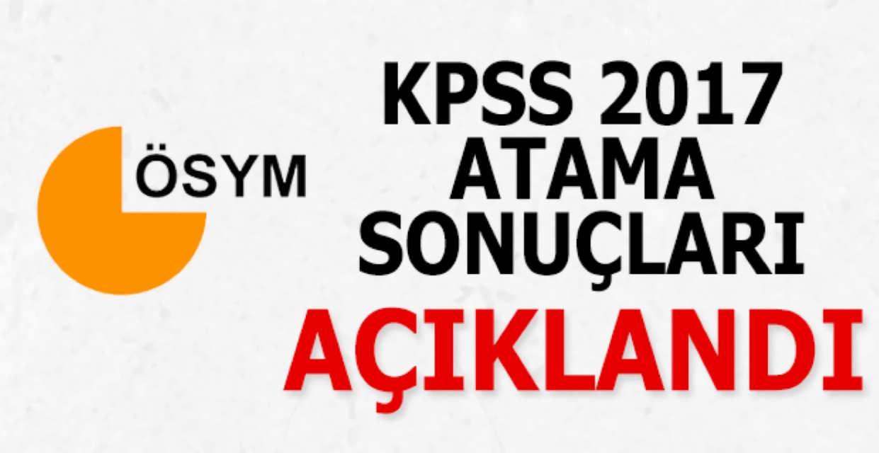 KPSS 2017/6 Memur Atama Sonuçları Açıklandı