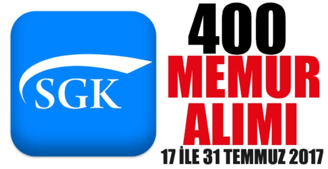 Sosyal Güvenlik Kurumu 400 Memur Alımı
