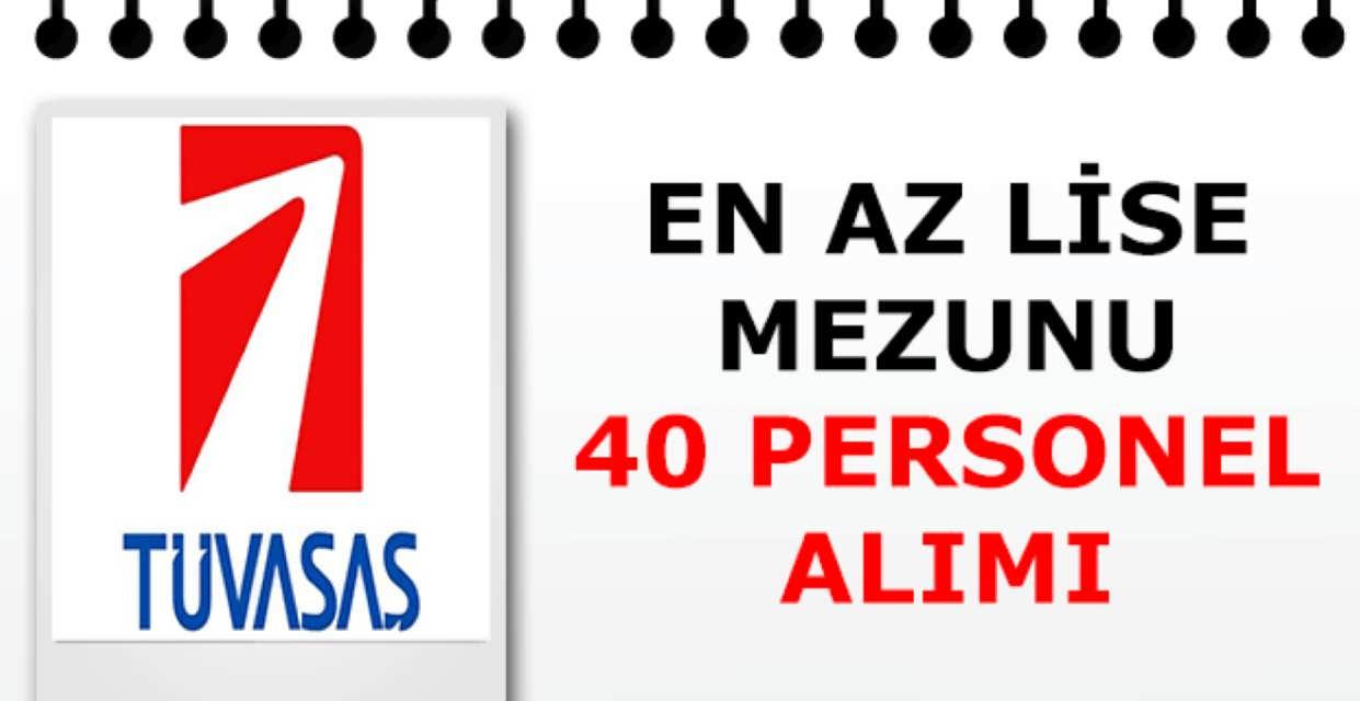 TÜVASAŞ 40 Kamu Personeli Alımı