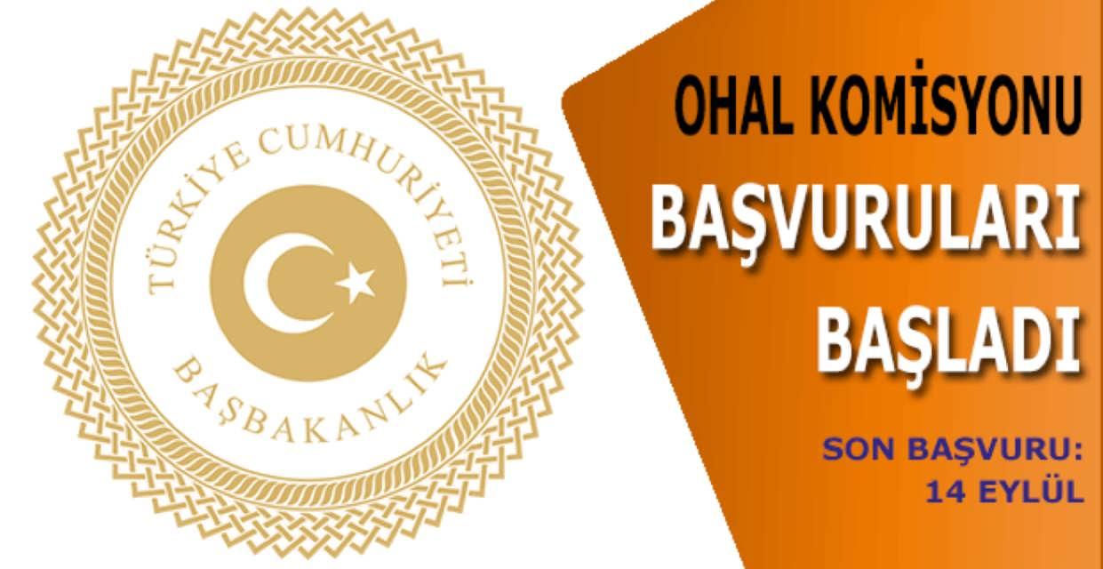 OHAL Komisyonu Başvuruları Başladı