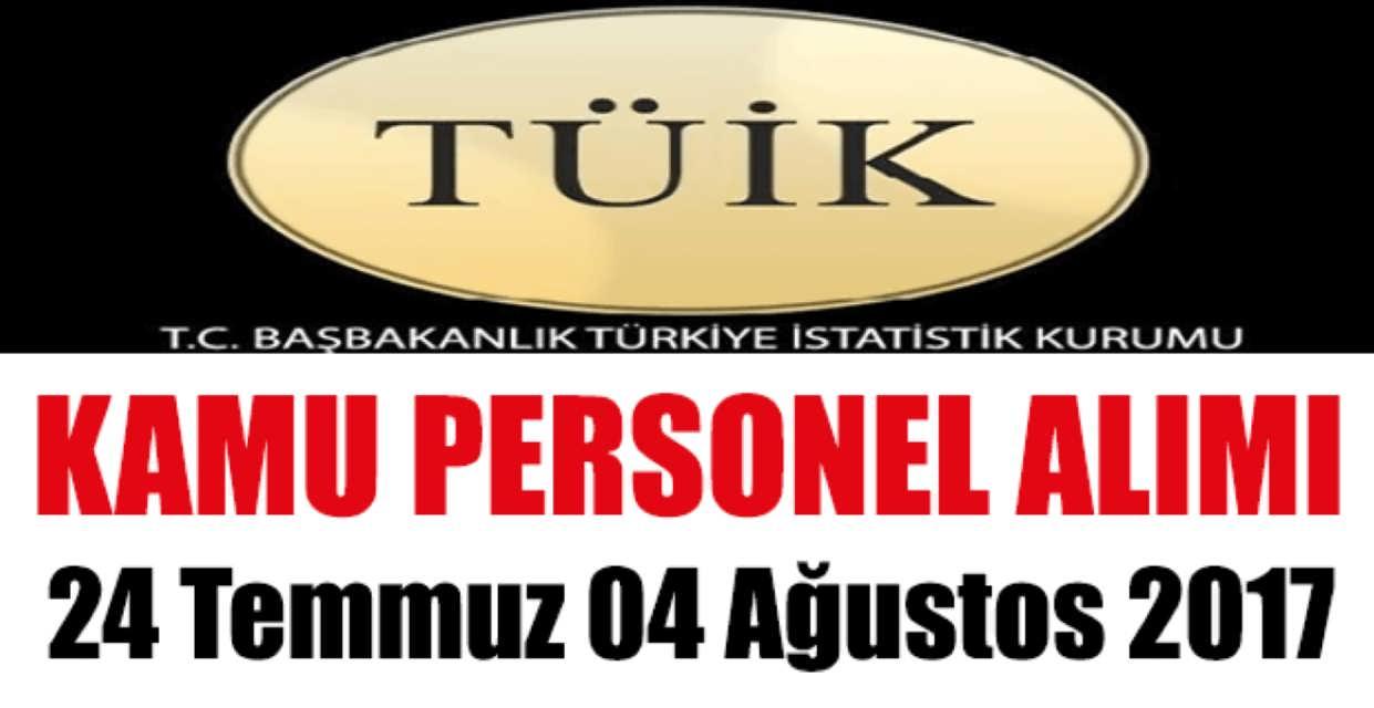 Türkiye İstatistik Kurumu 8 Kamu Personel Alımı