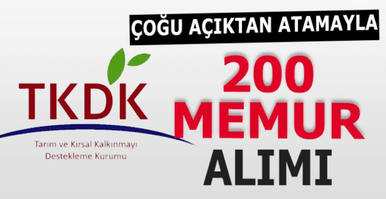 TKDK 200 Memur Alımı Başvuru Şartları Belli Oldu