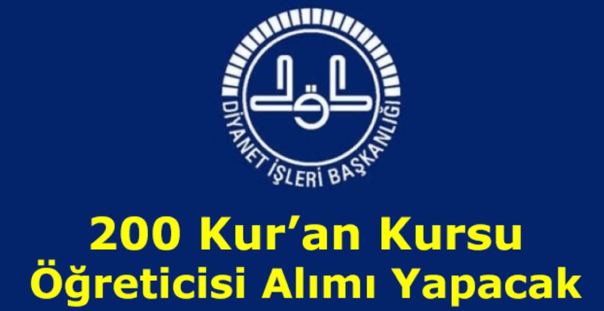 DİB Naklen 200 Kuran Kursu Öğreticisi Alacak