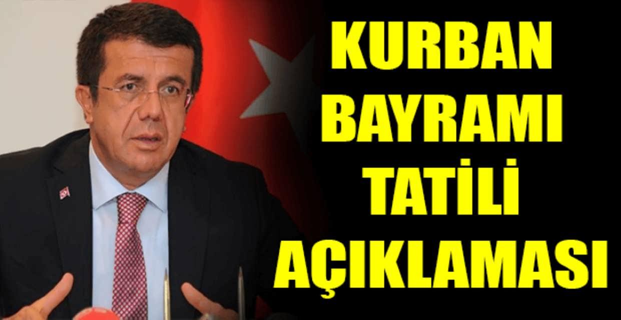 Bakan Zeybekçi'den Kurban Bayramı Tatili Açıklaması