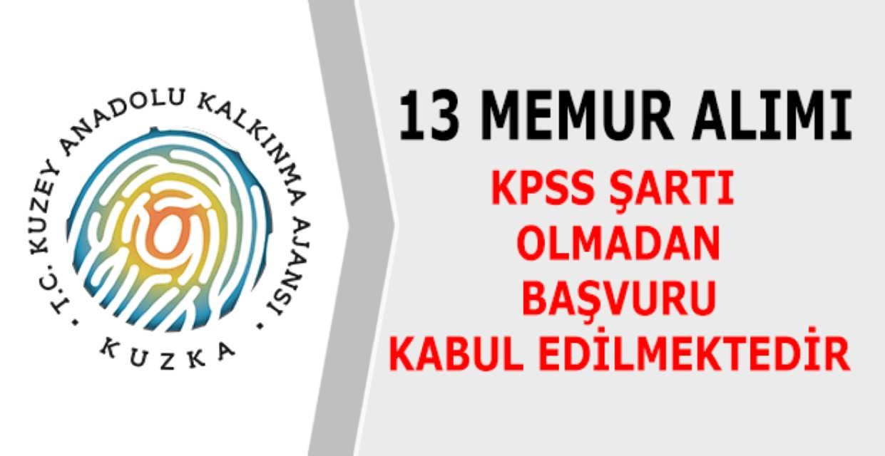 Kuzey Anadolu Kalkınma Ajansı 13 Memur Alımı