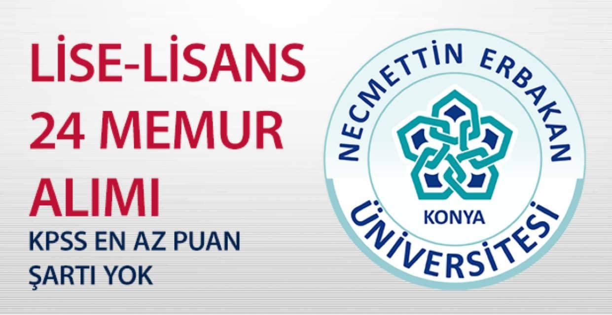 Necmettin Erbakan Üniversitesi 24 Kamu Personeli Alımı