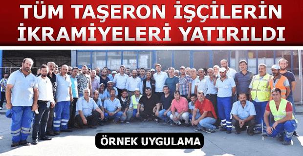 Belediyede Çalışan Taşeronların Bayram İkramiyeleri Yatırıldı