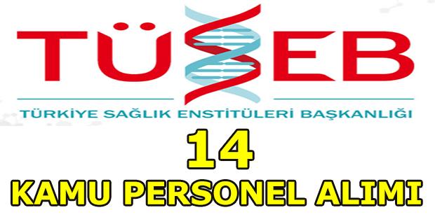 Türkiye Sağlık Enstitüleri Başkanlığı 14 Kamu Personel Alım İlanı