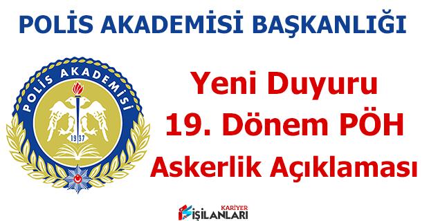 Polis Akademisi Başkanlığı Askerlik Açıklaması