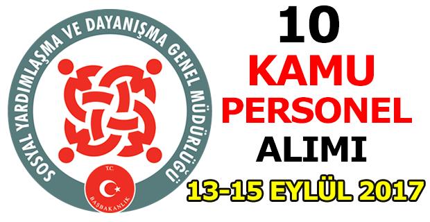 Sosyal Dayanışma Müdürlüğü 10 Kamu Personel Alımı